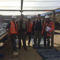 Soledad Project Team – Left to right: Carlos Montoya - Project Manager; Steve Park - Chief Consulting Geologist; Fabio Medrano – Field Assistant; David Kelley – CEO; Victor Torres – Project Geologist.